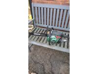 petrol chain saw hardly used had from new in good condition
