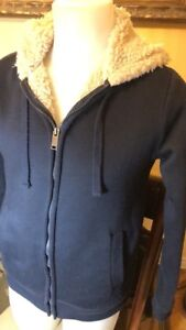Bluenotes Hooded Navy Sweater Size S