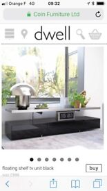 Tv shelf unit floating black