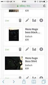 HU go Boss blk shirt n blk chinos