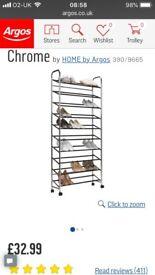 10 shelf shoe rack