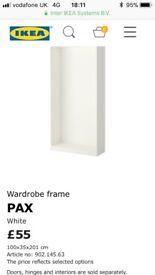 Ikea pax white wardrobe frame new in box