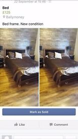 Double glossy bedframe from next