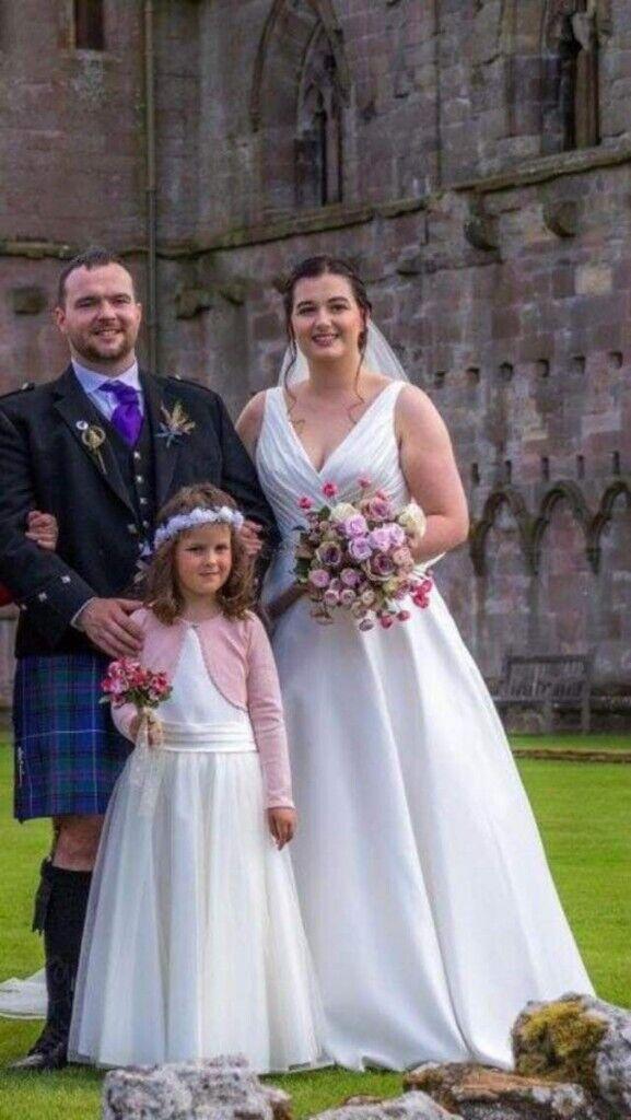 5d67de4a468 Wedding Dress and Flowergirl Dress.