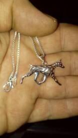 Doberman necklace