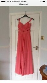 Ruby Red coral long dress size 8-10 new with tag