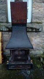 Open log burner