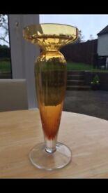STUNNING AMBER GLASS VASE