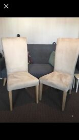 Set of cream dining chairs £60