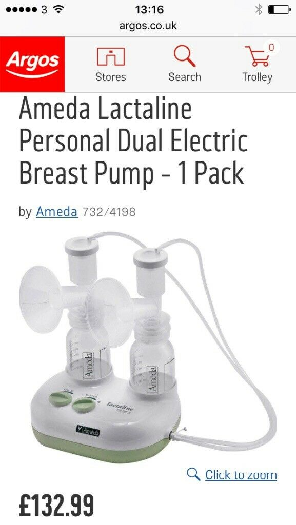 Ameda lactaline double electric breast pump & hands free pumping bra
