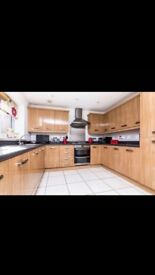 Gloss Wood effect kitchen cupboard and draw fronts