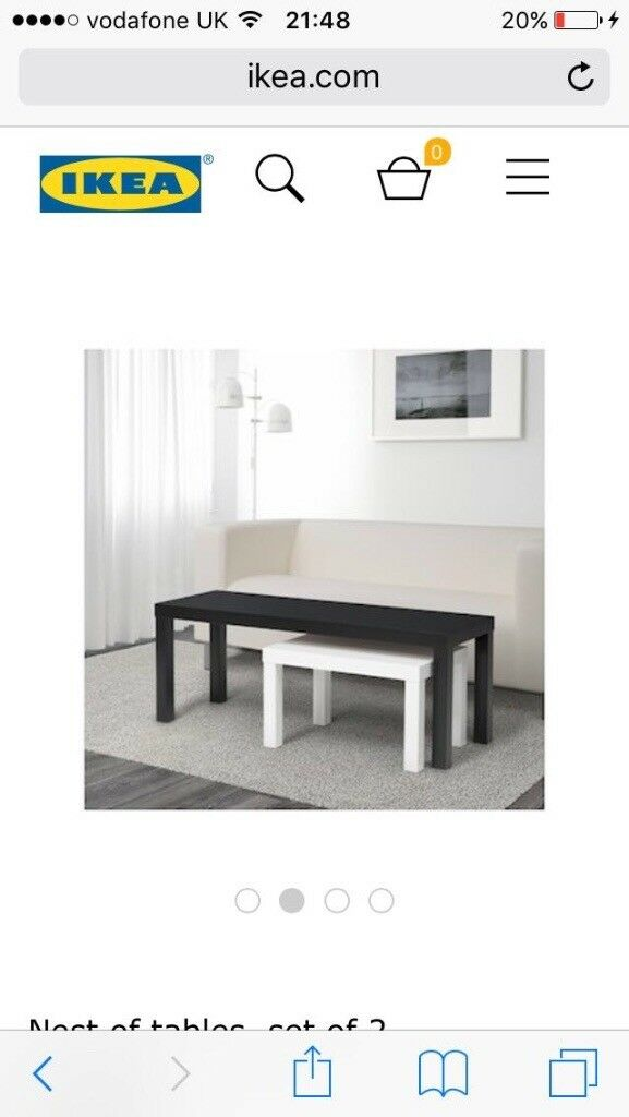 Ikea Black And White Coffee Tables In Exeter Devon Gumtree