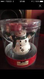 Yankee candle Snowman