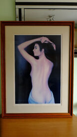 large framed limited edition print. anglelique by anthony ornye 25/250