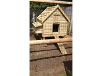 Chicken coop ( house ) with easy cleaning pull out tray