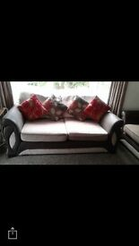 3seater and 2 seater mink fabric Sofas