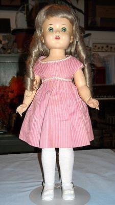 """Vintage 17 1/2"""" Hard Plastic Walker Doll - 1950's Unmarked             ...Lot 22"""