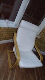 IKEA pine arm chair
