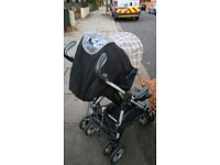baby travel system includes pushchair
