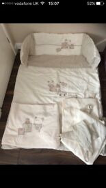Mama and papa Cot bedding