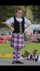 Highland dancing Kilt outfit and size 3.5 dancing pumps