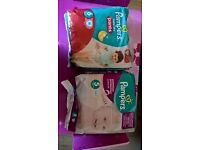 Pampers nappy size 5 and pants size 6, brand new