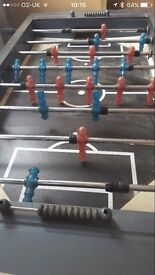 Table Football Full size Solid Frame, well built and sturdy, needs some TLC chrome legs