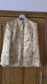 Ladies Gold Chinese print jacket size 12/14