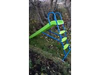 slide for the garden blue and green great for kids playing and stuff