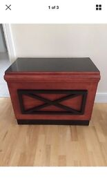 Solid wood cabinet with storage
