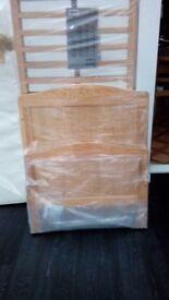Oak cotbed and mattress