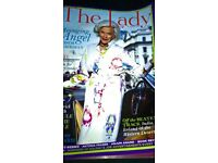 The Lady Magazine Jan 2010 Honor Blackman Cover & 3 Page Article/Interview