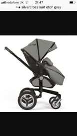 Silvercross surf Eton grey limited addition comes with carrycot