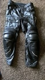 rk sports leather bike jeans