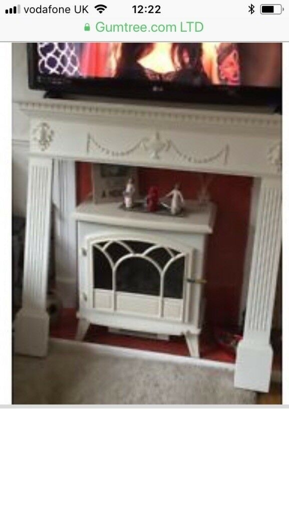 White Fire place surround