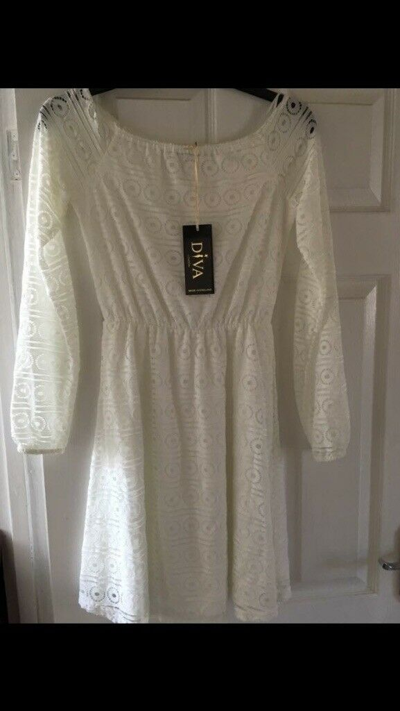 Size 10 white dress **New with tags**