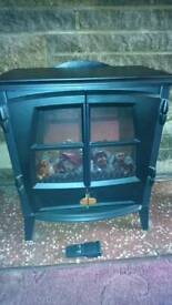 Burning Flame Effect Stove Electric Fire Heater Fireplace