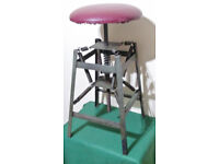Rare old Industrial army workshop chair
