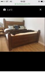 Four poster solid oak bed frame