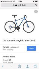 Gt Transeo 3 hybrid bike like new