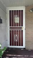 Steel Security Doors x 5, Wrought Iron