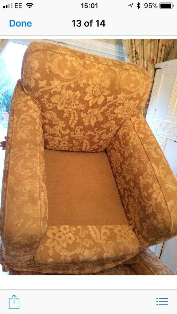 2 pre 50's armchairs, ideal upholstery project, solid oak frame