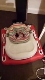 Baby 3 in 1 walker with activity tray