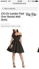 Chi Chi London black Bardot dress unworn