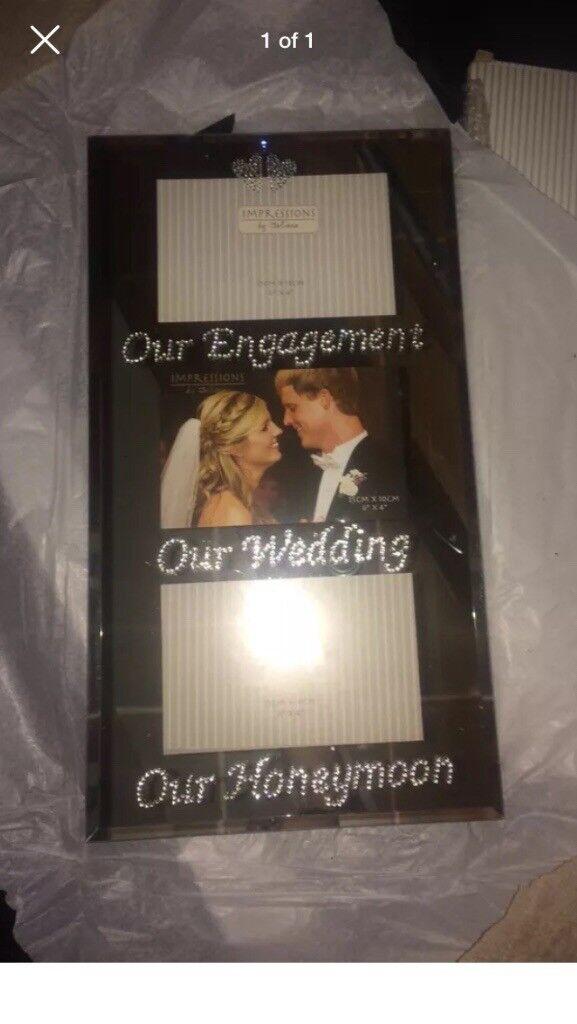 Engagement wedding honeymoon photo frame