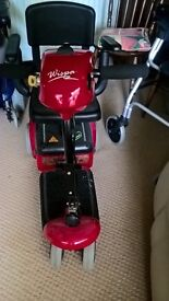 FORS SALE.Red wispa. mobility scooter excelent condition