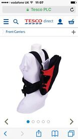 Black and red baby carrier