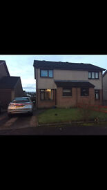 2 BEDROOM SEMI DETACHED HOUSE DRIVEWAY FRONT AND BACK GARDENS UNFURNISHED IN GEORGE TOWN DUMFRIES