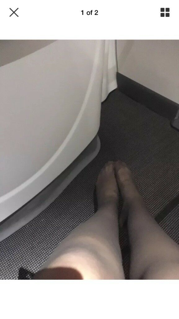 Used cabin crew tights well worn