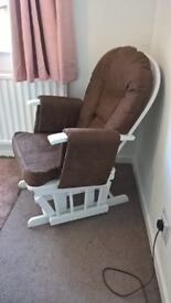 gliding nursing chair and matching footstool